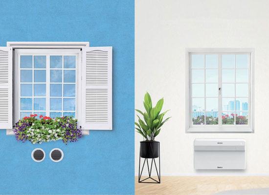 Představa inslatace klimatizace Unico
